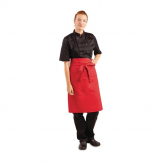 Whites Regular Bistro Apron Red
