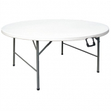 Bolero Round Centre Folding Table 5ft White