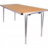 Gopak Contour Folding Table Oak 5ft