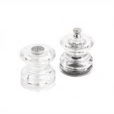 Olympia Miniature Salt and Pepper Set Clear
