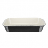 Vogue Black Cast Iron Roasting Dish Large