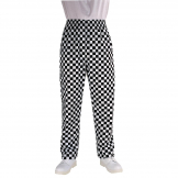 Chef Works Unisex Essential Baggy Pants Big Black Check L