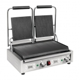 Buffalo Double Ribbed Top Contact Grill