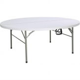 Bolero Round Centre Folding Table 6ft White