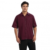 Chef Works Unisex Cool Vent Chef Shirt Merlot L