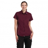 Chef Works Womens Cool Vent Chefs Shirt Merlot L