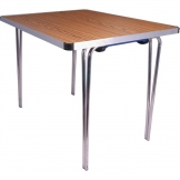 Gopak Contour Folding Table Teak 3ft