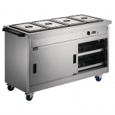 Lincat Panther 670 Series Hot Cupboard with Bain Marie P6B4
