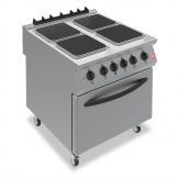 Falcon F900 Four Hotplate Electric Oven Range on Castors E9184