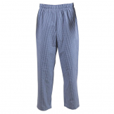 Whites Easyfit Trousers Teflon Blue Check XL