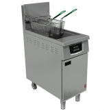 Falcon 400 Series Single Tank Twin Basket Free Standing Propane Gas Filtration Fryer G402F