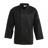 Whites Vegas Unisex Chef Jacket Long Sleeve Black - M