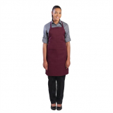 Chef Works Bib Apron Merlot