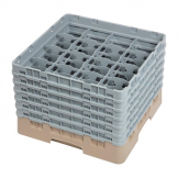 Cambro Camrack Beige 16 Compartments Max Glass Height 298mm