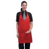 Chef Works Tuxedo Bib Apron Red
