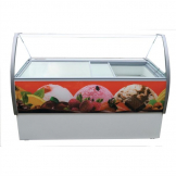 Crystal Venus Elegante 13 Pan Ice Cream Display Counter VenusEle56