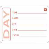 Vogue Removable Prepped Food Labels