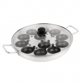 Vogue 12-Egg 350mm Aluminium Egg Poacher