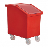 Fletcher Mobile Ingredient Bin 90Ltr Red