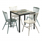 Extrema Driftwood & Spin Dining Set