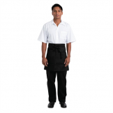 Chef Works Half Bistro Apron Black