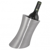 Olympia Brushed Stainless Steel Angled Wine And Champagne Cooler