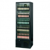 Infrico Upright Back Bar Cooler with Hinged Door in Black ZX10