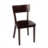 Fameg Plain Side Chairs Walnut Finish (Pack of 2)