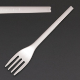Fiesta Green Compostable CPLA Forks White