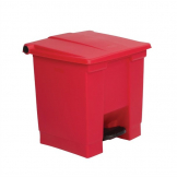 Rubbermaid Step On Pedal Bin Red 30.5Ltr