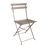 Bolero Coffee Pavement Style Steel Chairs (Pack 2)