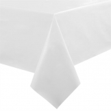 White PVC Table Cloth 54in