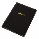 Olympia Faux Leather Menu Cover A4 Black
