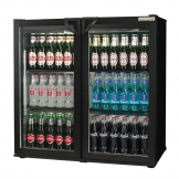 Autonumis Popular Double Hinged Door 3Ft Back Bar Cooler Black A215179