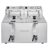 Buffalo Twin Tank Twin Basket 2x8Ltr Countertop Fryer with Timers 2x2.9kW