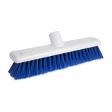 Jantex Hygiene Broom-Head Soft Bristle Blue 12in