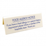 Food allergy Table Notice