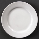 Olympia Linear Wide Rimmed Plates 200mm (Pack of 12)