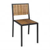 Bolero Steel & Acacia Wood Side Chair Pack of 4
