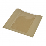Vegware Compostable Large Kraft Sandwich Bags With PLA Window