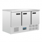 Polar G-Series Triple Door Counter Fridge 368Ltr