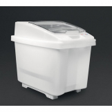 Araven Transparent Mobile Ingredient Bin 80Ltr