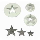 PME Star Pastry Cutters (Pack of 3)