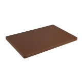 Hygiplas Extra Thick Low Density Brown Chopping Board Standard