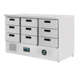 Polar G-Series Refrigerated Counter with 9 Drawers 368Ltr