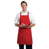 Chef Works Bib Apron Red