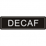 Adhesive Airpot Label - Decaf