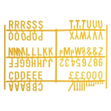 Beaumont Peg Board 20mm Letters 540 Characters Yellow (Pack of 20)