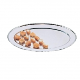 Olympia Stainless Steel Oval Service Tray 500mm