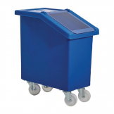 Fletcher Mobile Ingredient Bin 65Ltr Blue